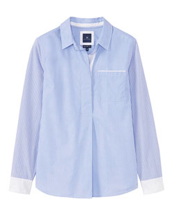 Whitley Colour Block Shirt in Blue