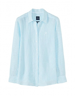Linen Shirt In Aqua Blue