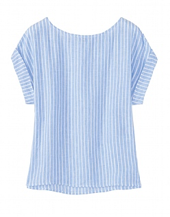 Cobo Linen Top In Blue