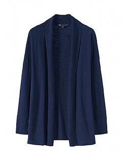 Whitstable Cotton Cardi In Navy