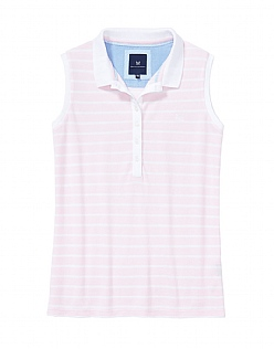 Sleeveless Polo Shirt In Pink