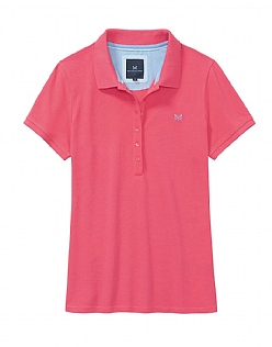 Classic Polo Shirt In Sunset Pink