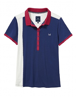Crew Club Feature Polo Shirt In Navy