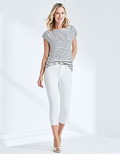 Cropped Skinny Jean In Optic White