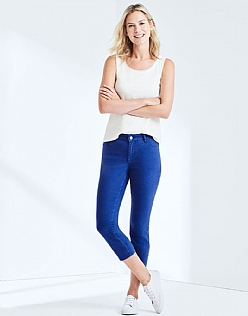 Cropped Skinny Jean In Ultramarine Blue