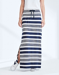 Chesil Jersey Maxi Skirt In Navy