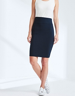 Jersey Tube Skirt In Navy