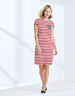 Breton Dress In Claret Red