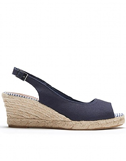 Sophia Espadrilles in Navy Blue
