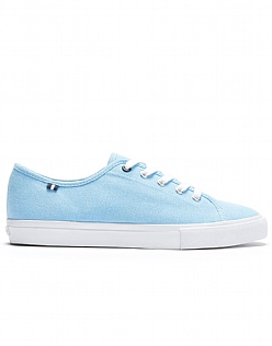 Ella Canvas Trainers in Aqua Blue