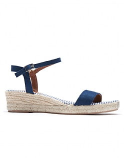 Demi Wedge Espadrilles in Navy Blue