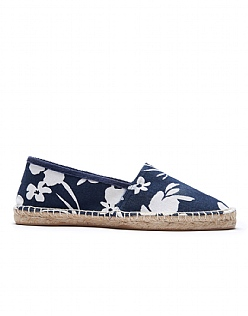 Flat Espadrilles in Navy Blue