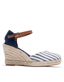 Marla Espadrilles in Navy Blue Stripe