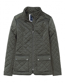 Forres Quilted Jacket in Dark Khaki