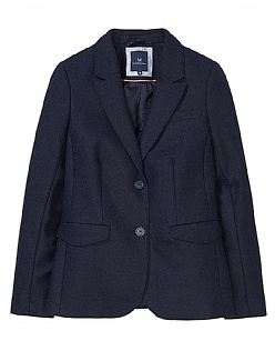 Grasmere Wool Blazer in Dark Navy