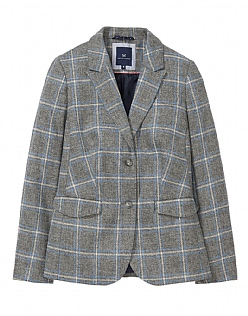 Grasmere Wool Blazer in Grey