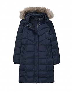 Down Coat in Dark Navy