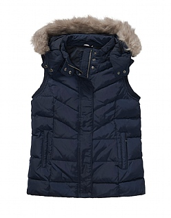 Down Gilet in Dark Navy