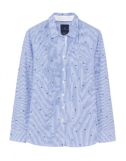 Lulworth Poplin Shirt in Blue