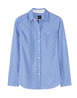 Penhale Poplin Shirt in Blue