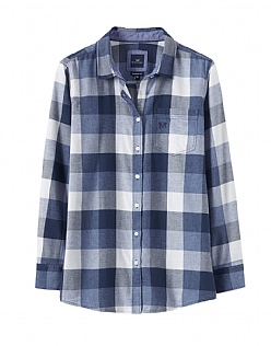 Weekend Flannel Shirt in Navy Blue