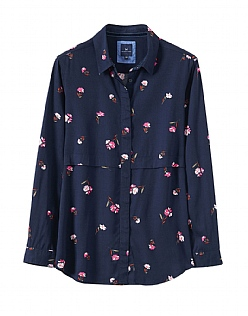 Posy Print Shirt in Navy Pink