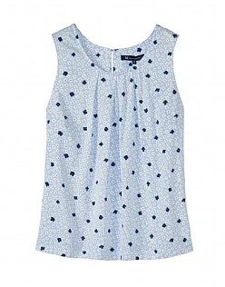 Orla Print Vest Top in Pale Blue