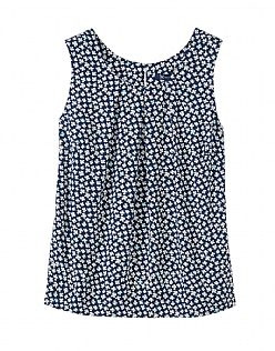 Orla Print Vest Top in Navy