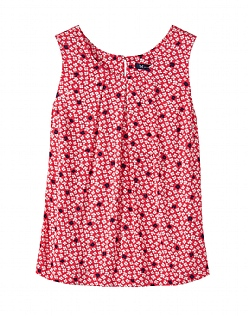 Orla Print Vest Top in Pink