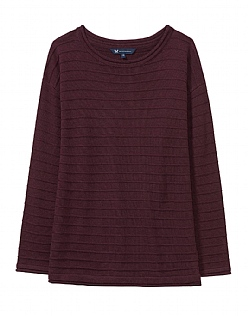 The Salcombe Essential Knit in Damson