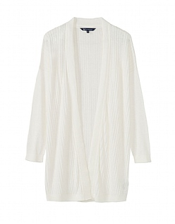 Holcombe Cardigan in White Linen