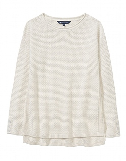 Textured Stitch Jumper in Latte
