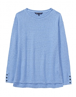 Textured Stitch Jumper in Indigo Blue