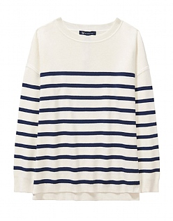 Sandford Jumper in White Stripe