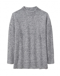 Boucle Jumper in Chalk Grey Marl
