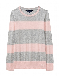 Merino Cashmere Jumper in Pink Grey