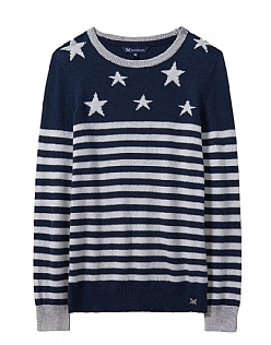 Star Breton Jumper in Navy Stripe