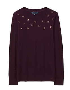 Sequin Spot Jumper in Fresh Damson