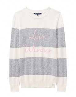 Love Winter Jumper in Chalk Grey Marl