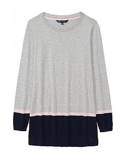 Colour Block Tunic in Grey