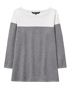 Colour Block Jumper in Charcoal Grey