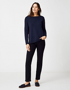 Colour Block Jumper in Navy