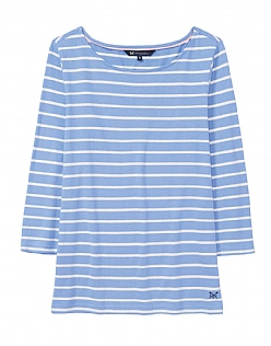 Essential Breton T-Shirt in Light Indigo Blue