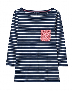 Pocket Breton T-Shirt in Navy