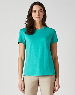 Classic Crew Neck T-Shirt in Jade Green