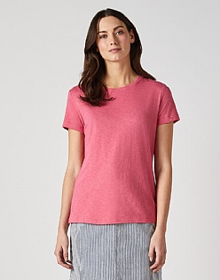 Classic Crew Neck T-Shirt in Watermelon Pink