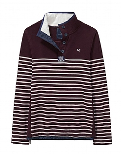 Half Button Sweatshirt in Damson