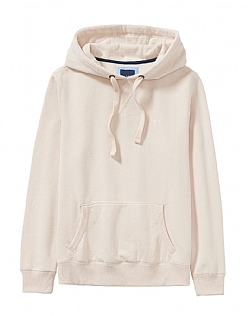 Crew Logo Hoody in Latte