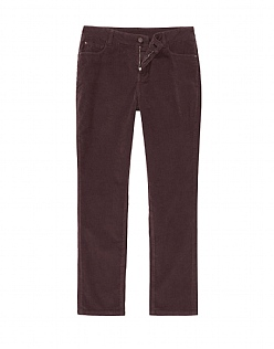 Cord Slim Trouser in Fresh Damson