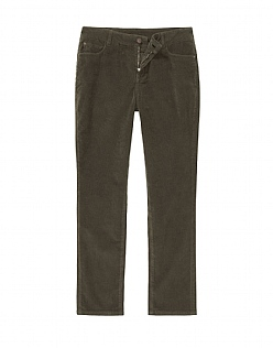 Cord Slim Trouser in Dark Khaki